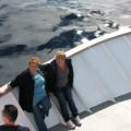Brigita in Irena na pramcu ladje