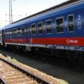 Madžarski potniški vlak v Budimpešti