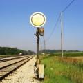 Nemški likovni predsignal (DRB) na postaji Kidričevo leta 2005, foto Mitja Vaupotič