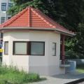 Obnovljena postavljalnica Ptuj s posebnim arhitekturnim zaključkom in okni za opazovanje potnega prehoda; foto Mitja Vaupotič
