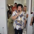 Otvoritev razstave-direktorica GML in avtor razstave. foto Leon Novak