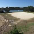 Peščeni green na golf igrišču