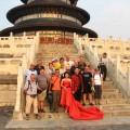 Peking z mladoporočencema
