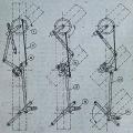 Prikaz delovanja razrešilnih naprav na triročičnem likovnem signalu (SB), iz knjige Ing. Debeljaka