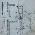 Prikaz ročic in sestavnih delov razrešilne naprave na triročičnem likovnem signalu (SB), iz knjige Ing. Debeljaka