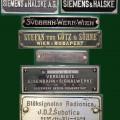 Različni napisi izdelovalcev naprav (foto Mitja Vaupotič)