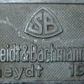 Tovarniška tablica nemškega tipa signalov (DRB) iz Kidričevega; iz zbirke Železniškega parka, foto Mitja Vaupotič