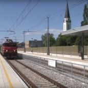 Prvi vlak na električni pogon skozi Mursko Soboto (31.05.2016)