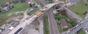Spust mostu na Grobelnem