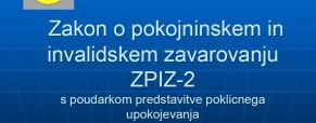 ZPIZ-2 s poudarkom predstavitve poklicnega upokojevanja